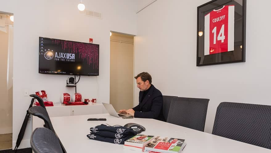 Ronald de Boer at the Ajax office in Manhattan.